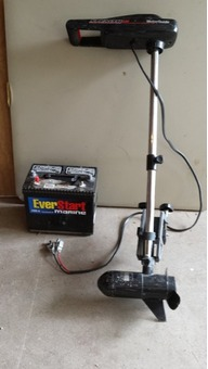 Motorguide 250 Trolling motor and near new battery