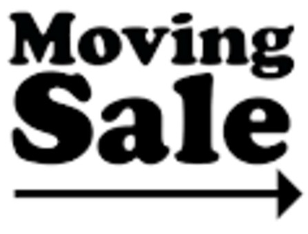 Moving Sale Saturday, July 1