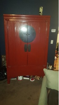 Armoire - Large, red and black