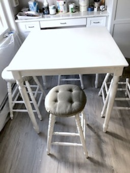New Counter Height Kitchen Table and Stools