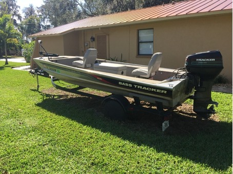 1996 Bass Tracker Panfish 16 with Trailer